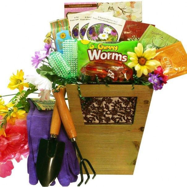 Gardening Basket Gift Ideas little sprouts gift basker Gardening Gift Basket Idea