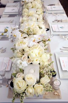 white and ivory centerpieces - Google Search