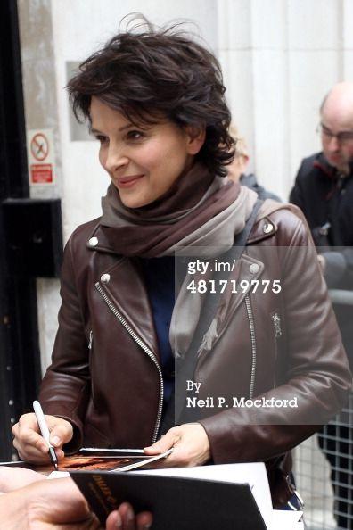 Juliette Binoche seen at BBC Radio 2 on March 31 2014 in London... News Photo 481719775