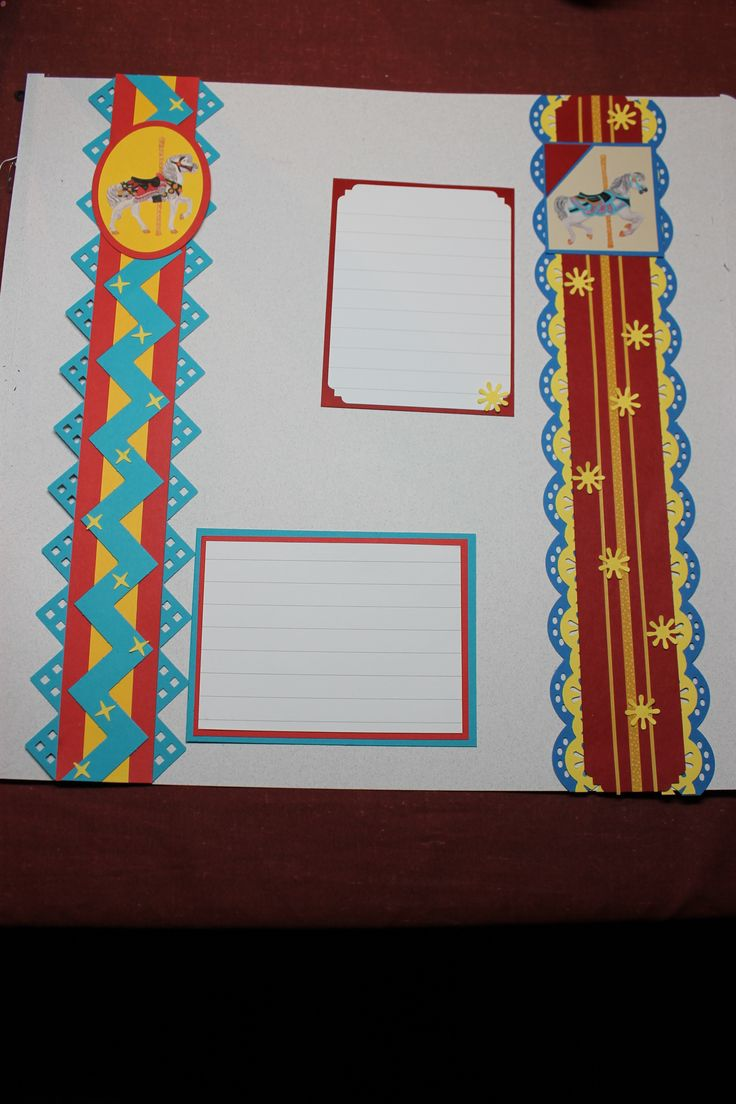 Scrapbook border ideas - Old Favorites Updated With Peek A Boo Borders Use Up Old Creative Memories Scrapbooking