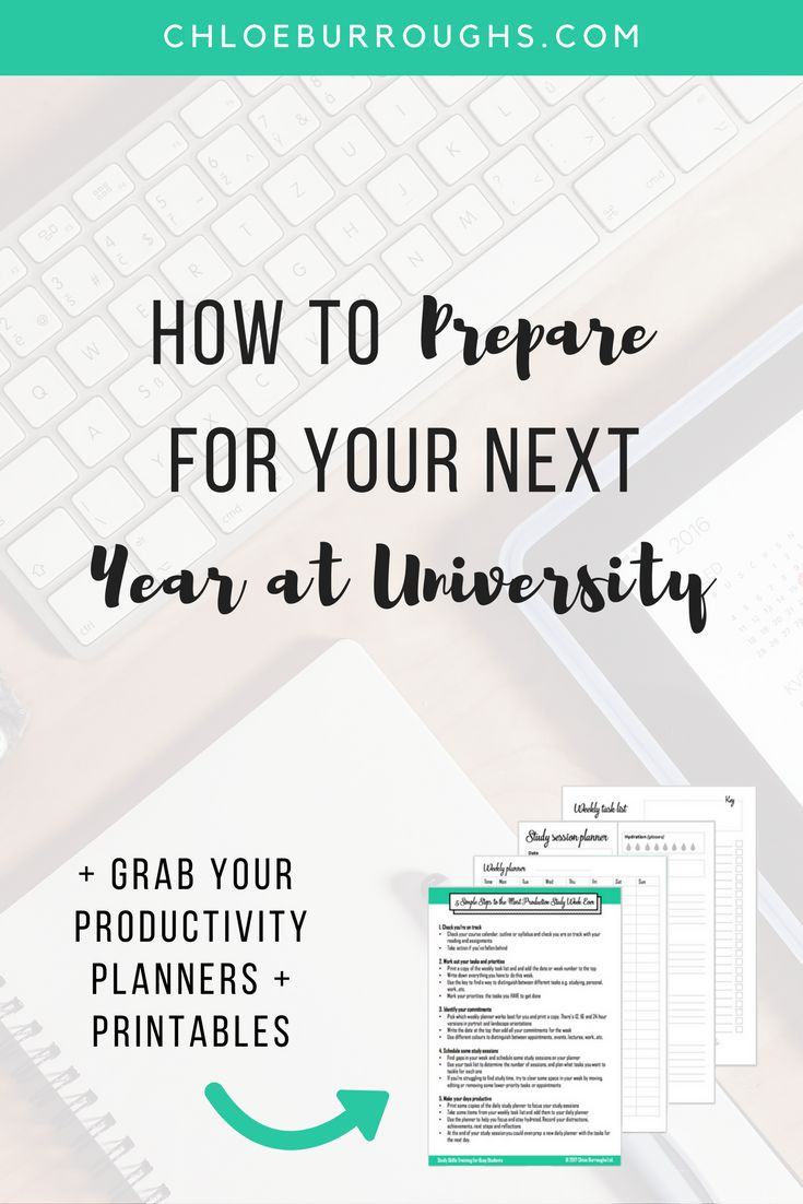Discover 6 ways to prepare for university or college. Whether it's your first year or your next year, learn how to recharge but also get ready for the academic year. Study skills | study tips | productivity | busy student | adult learner
