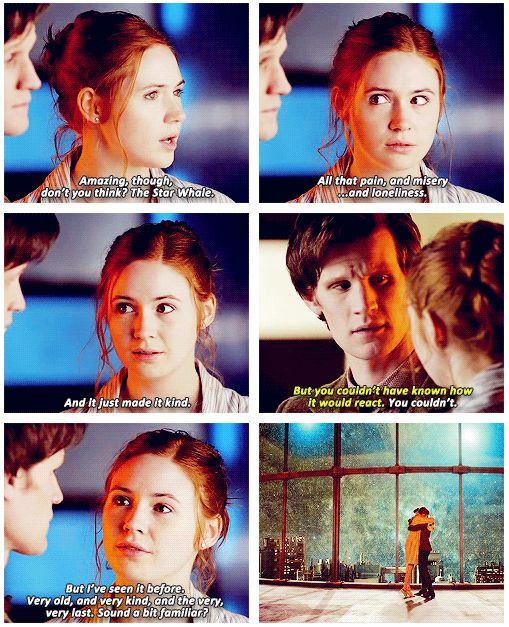 Such a sweet moment between Amy and Eleven ♥♥