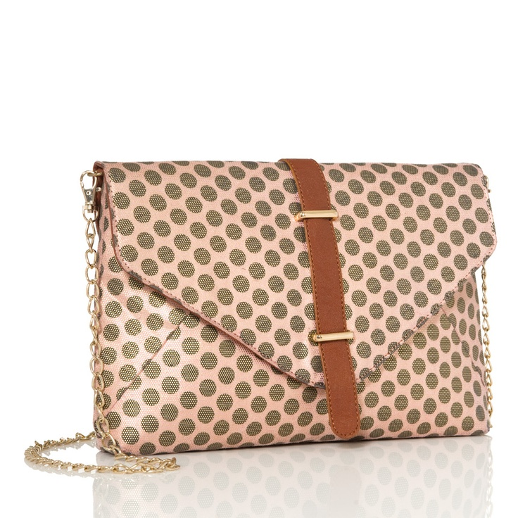polka dot clutch: Pink Polka Dots, Dotsawesom Handbags, Dots Clutches, Awesome Handbags, Fashion Accessories, Gold Dots, Clutches Pur, Envelopes Clutches, Style Fashion