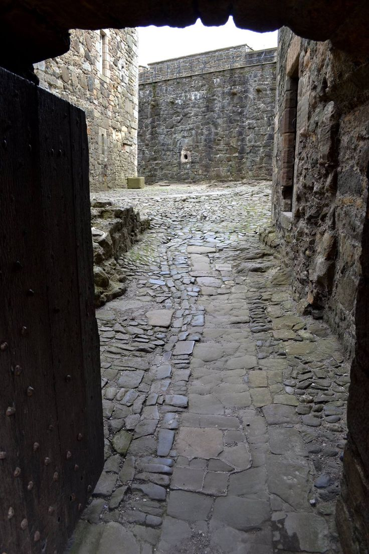 Wentworth Prison Courtyard - looks very familiar.  Filmed at Blackness Castle, on the Firth of Forth.