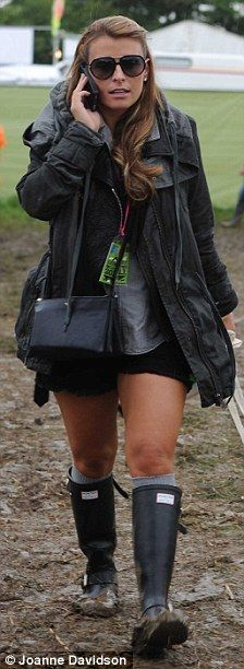Coleen Rooney photographed wearing a pair of Hunter wellies
