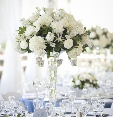 27 best flowers images on pinterest white wedding flowers wedding i like the white flowers with green with crystal candelabras wedding flower centerpiecesivory mightylinksfo