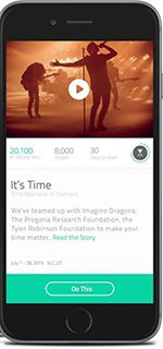 "Time Machine wants to help you find ways to spend time doing things that inspire you. You'll be helping PRF expand awareness by doing challenges & sharing them w/friends. Each activity takes just minutes - minutes you ""earn"" that add up.The inspiration behind Time Machine came from ""Life According to Sam"" and Sam Berns' TedX talk, ""My Philosophy for a Happy Life"". Sam's philosophy was to use time wisely and keep moving forward, focusing on the things he could do instead of those he couldn't."