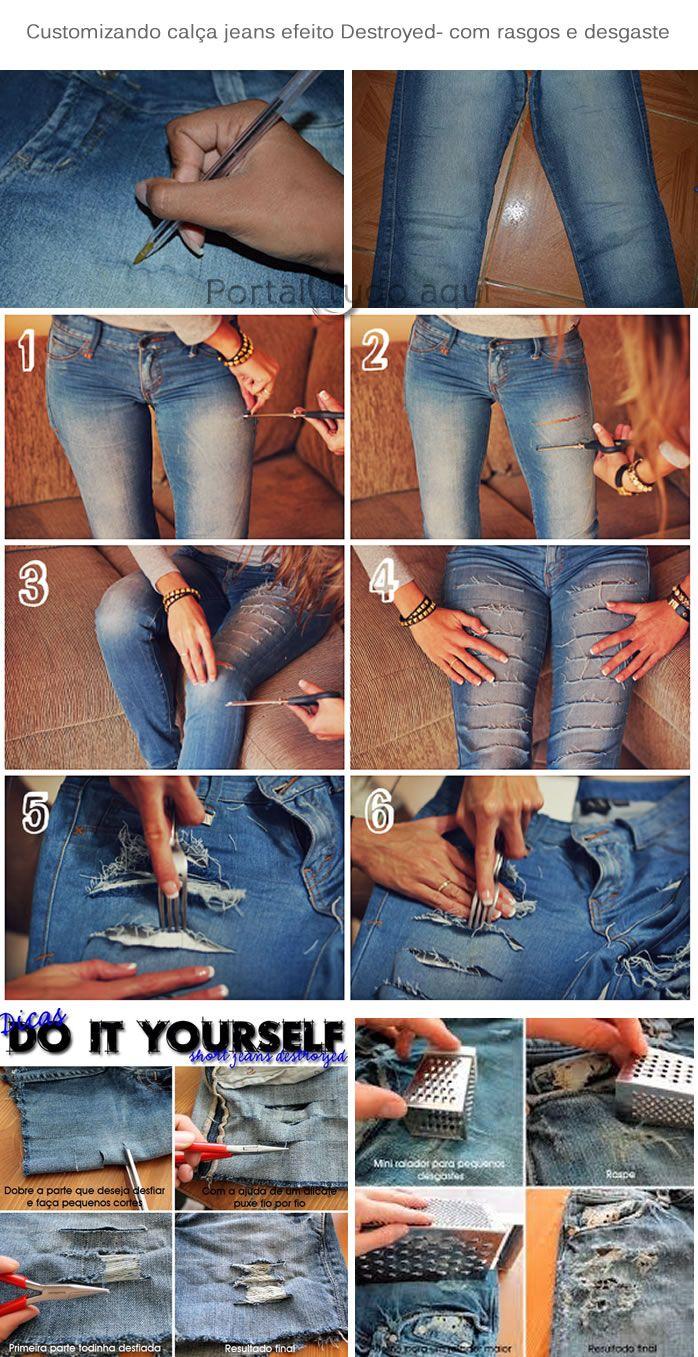 Aprenda a customizar calça jeans com as melhores maneiras para deixá-la na moda