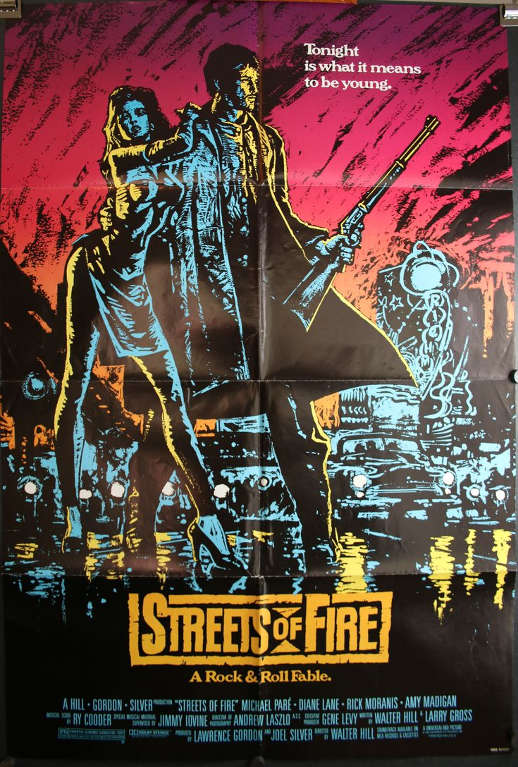 original movie posters | STREETS OF FIRE, Original Vintage Movie Poster