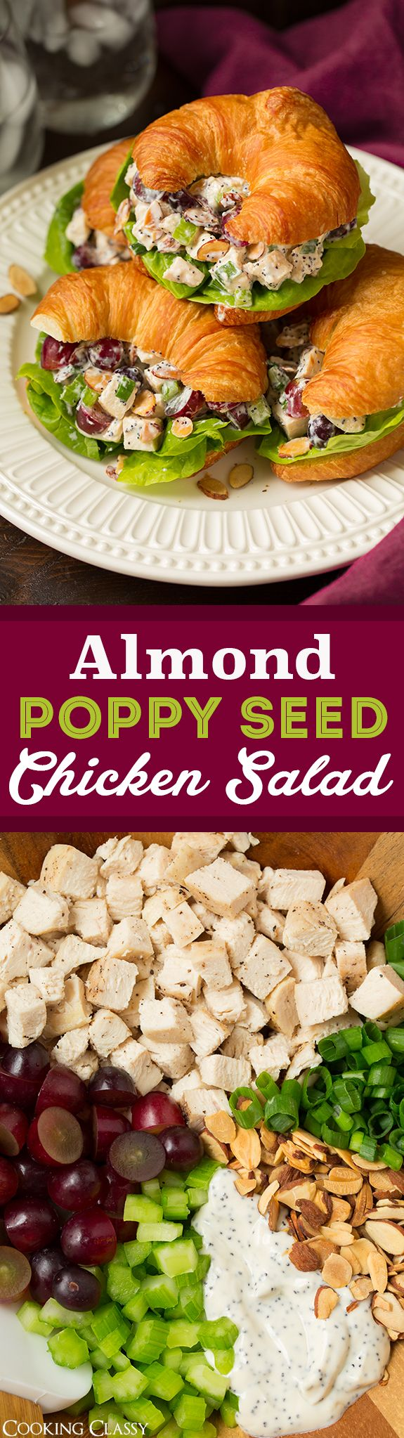 Almond Poppy Seed Chicken Salad - one of my favorite chicken salad recipes! Love…