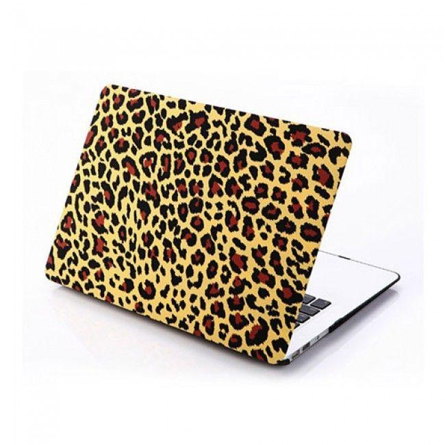 Leopard (Keltainen) Macbook Air 13.3 Suojakuori - http://lux-case.fi/macbook-suojakotelot.html