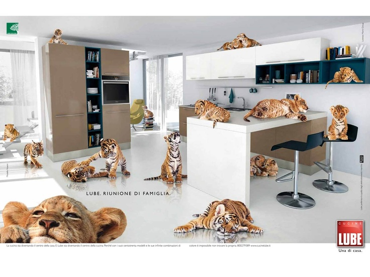 LUBE Cucine cute advertising