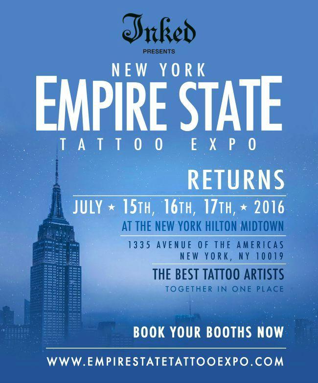 Expo NY Empire State Tattoo 15 - 17 Juillet 2016 New York,