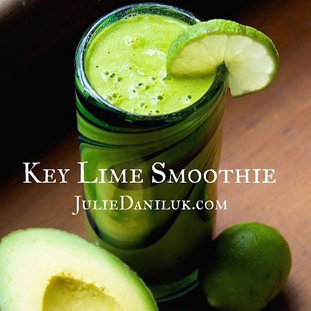 Key Lime Smoothie by JulieDaniluk.com