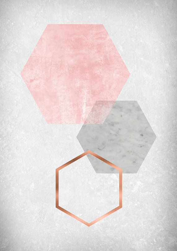 Blush Print Blush Wall Art Blush Poster Copper by Artvintagedecor