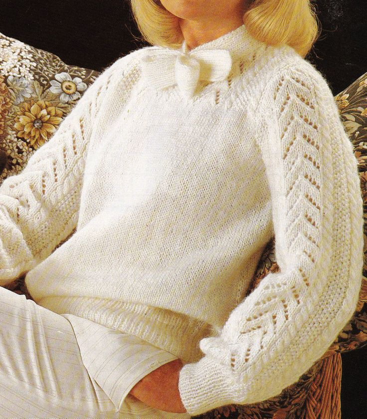 Vintage Knitting Pattern Instructions to Make a Ladies Lacey Jumper/Sweater