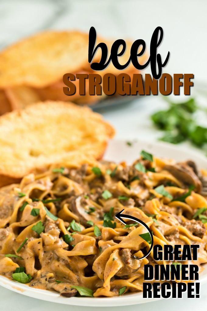 Easy Ground Beef Stroganoff Recipe In 2020 Ground Beef Stroganoff Dinner With Ground Beef Beef Recipes