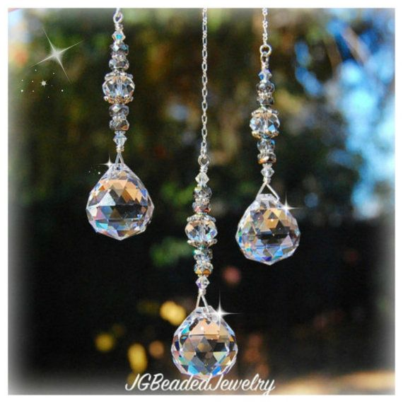 Ceiling Light Pull, Fan Pull, Crystal Pull Chain, Prism Ornament, Hanging Crystal Suncatcher Beaded Chain Pull