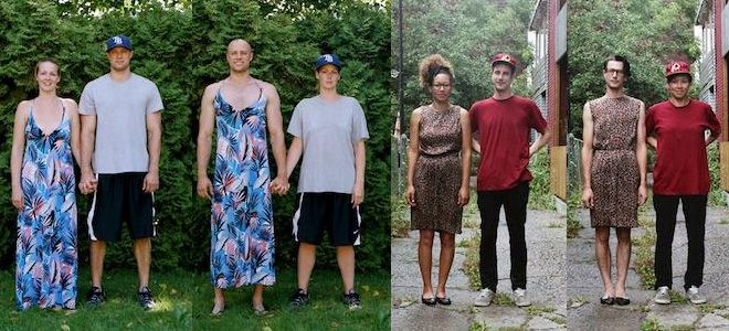 50 Funny Pictures of Couples Exchange Their Entire Outfits - Switcheroo