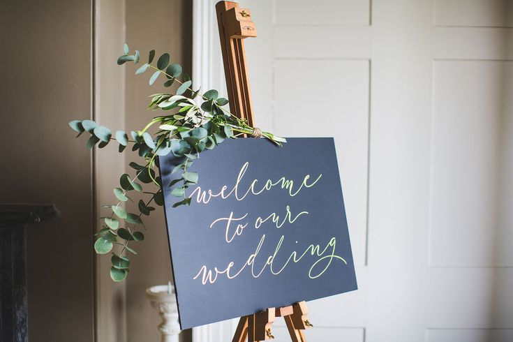 Calligraphy for Weddings Welcome Sign - S6 Photography | Classic Wedding at Saltmarshe Hall in Yorkshire