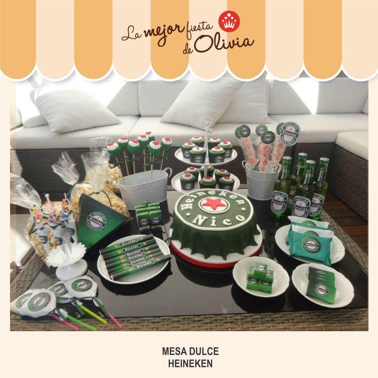 Mesa dulce heineken cumplea os tem ticos adultos - Decoracion de mesas cumpleanos adultos ...