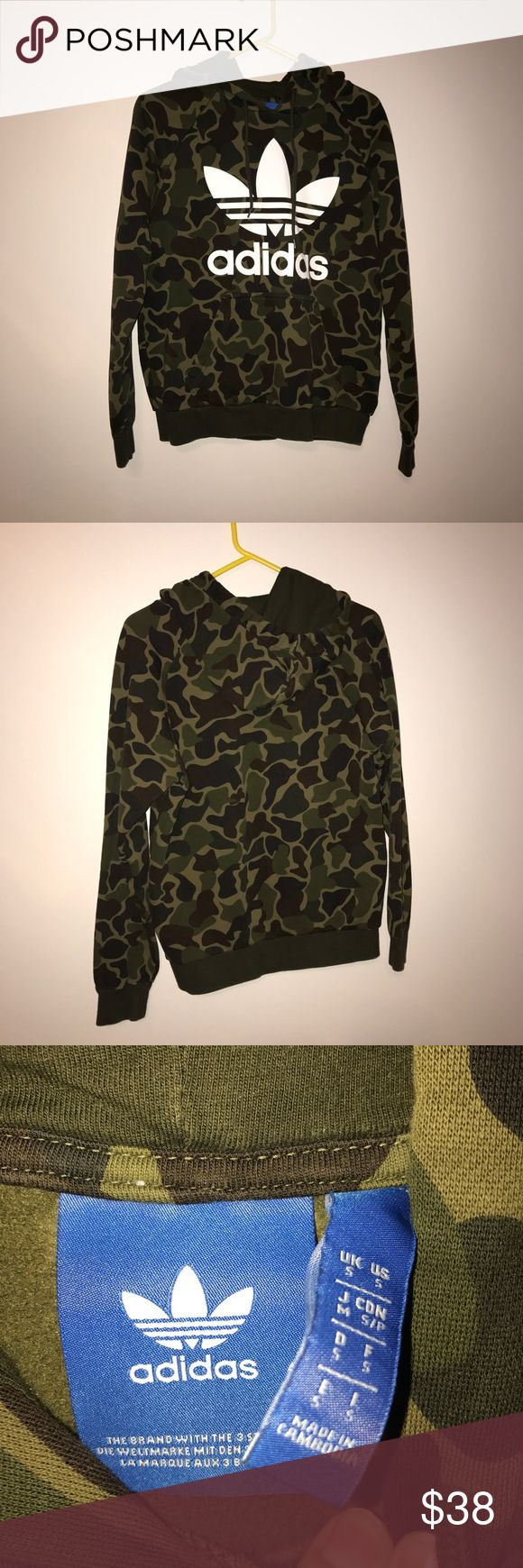 Adidas hoodie Adidas camouflage hoodie. Size small in men's but could fit a women's small/medium adidas Sweaters
