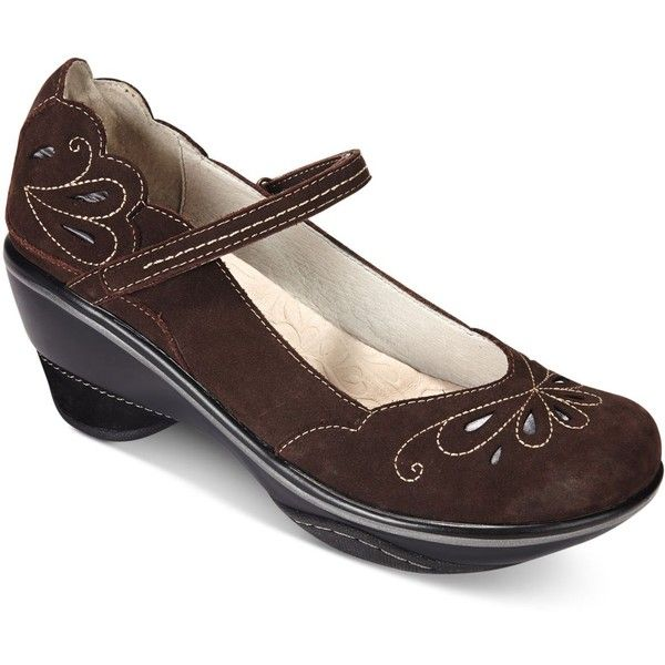Jambu Women's Bombay Mary Jane Pumps ($129) ❤ liked on Polyvore featuring shoes, pumps, dark brown, jambu, jambu footwear, jambu shoes, mary jane pumps and maryjane pumps