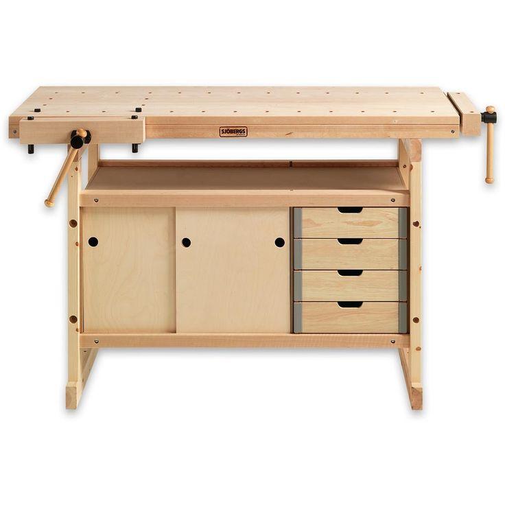 Sjobergs 1340 Workbench Birch c/w 0042 Storage Module | Axminster Tools & Machinery