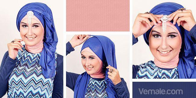 Kumpulan Artikel - Tutorial Hijab Pesta: Tutorial Hijab Double ...