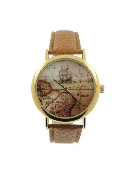 Ii plac calatoriile? Ceasul de Dama Exploring World este perfect!