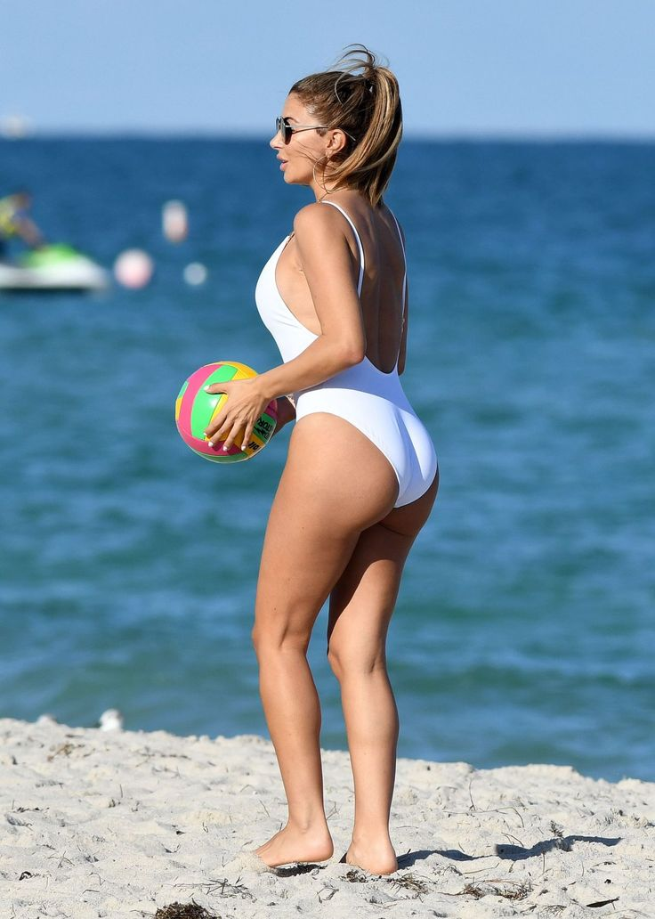 LARSA PIPPEN in Swimsuit on the Beach in Miami