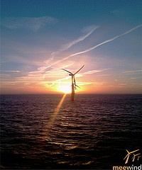 Windmills and sunset #windenergie #offshore #picture