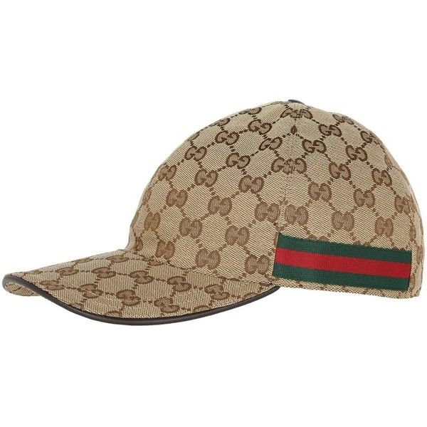 Gucci Scarves & Caps - Baseball Hat L Beige/Ebony - in beige - Scarves... ($235) ❤ liked on Polyvore featuring accessories, hats, beige, beige baseball cap, leather cap hat, leather ball cap, buckle hats and baseball hat