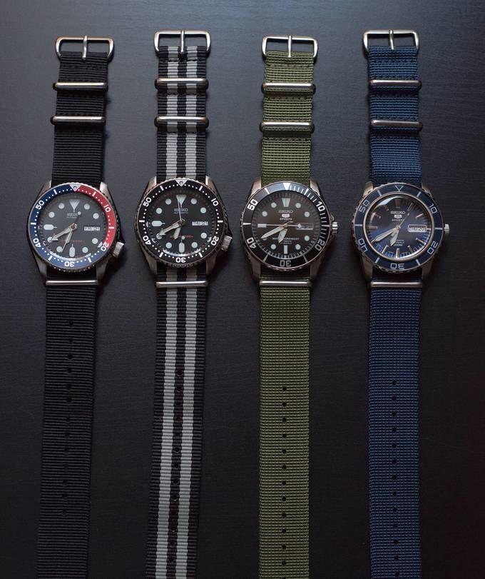 Seiko - SKX009, SKX007, SNZF17, SNZH53