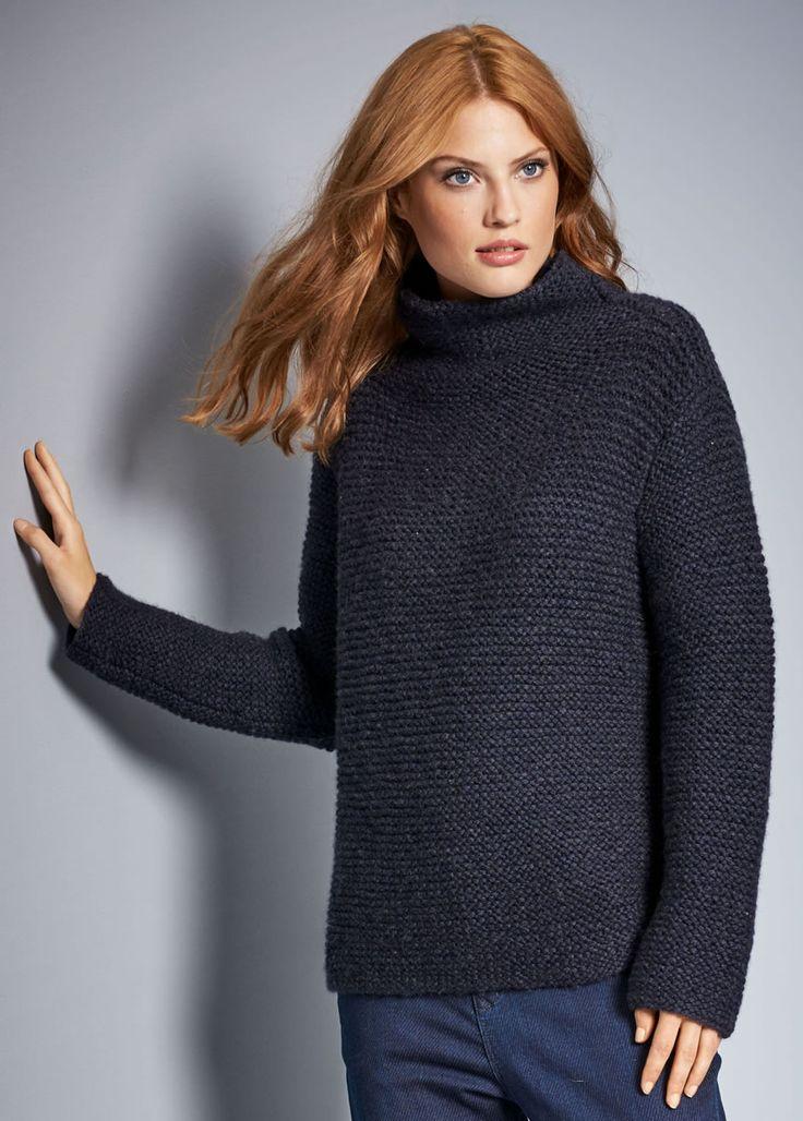 Lana Grossa PULLI KRAUS RECHTS MIT STEHKRAGEN Alta Moda Cashmere 16 - FILATI No…