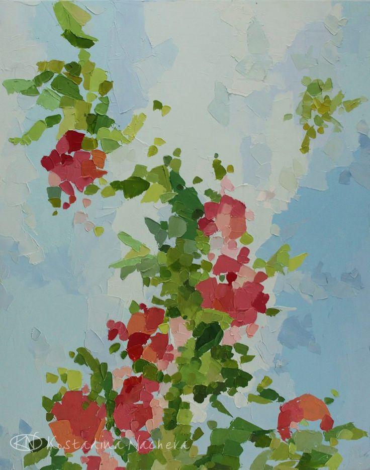 Seven Roses in a Garden web