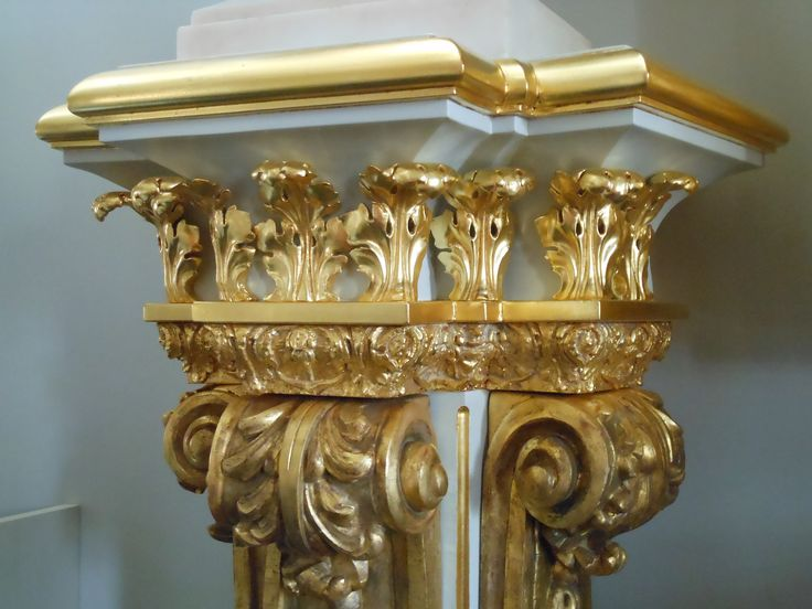 Pedestal, baroque style, following the William Kent manner.   Carved, painted, and parcel-gilt wood, plastic cast details.   Measurements: Height 1120 x Width 630 x Depth 510 mm  Weight approx. 40 kg. Term of this work is 3 months.  Location: Moscow. 3.200 EUR.  Contact: artinform76@gmail.com