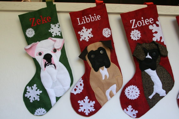 Custom Christmas Stocking for your Pet with by thepaperlion,i had these made!!! love them!