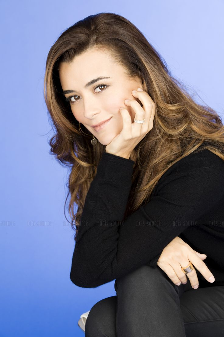 Cote De Pablo; even with minimal make-up she's stunning