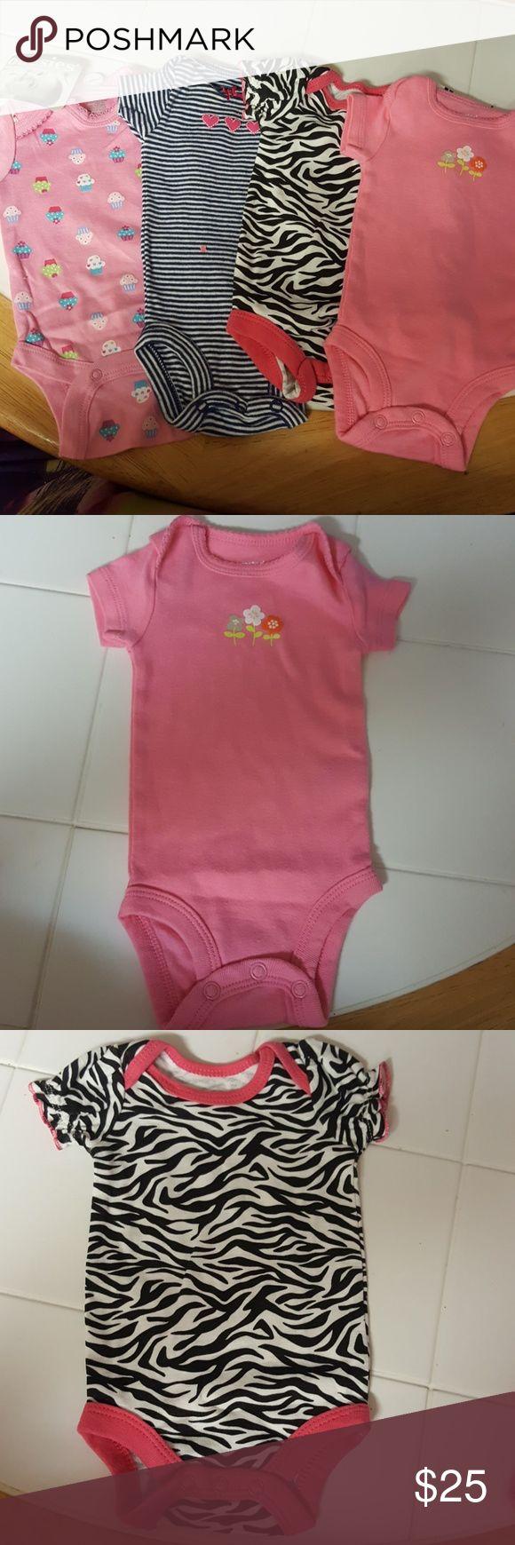 Newborn onsies lot of 4 girls Newborn onsies lot of 4 girls onsies One Pieces