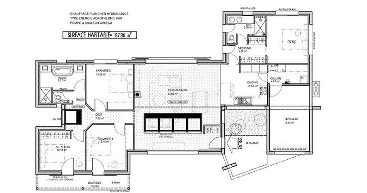 1000 ideas about plan maison contemporaine on pinterest - Plan de maison luxueuse ...
