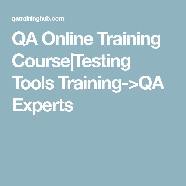 QA Online Training Course|Testing Tools Training->QA Experts