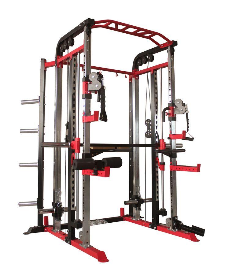 Power Racks & Smith Machines : Smith Machine Power Rack & Functional Trainer - Trojan Fitness