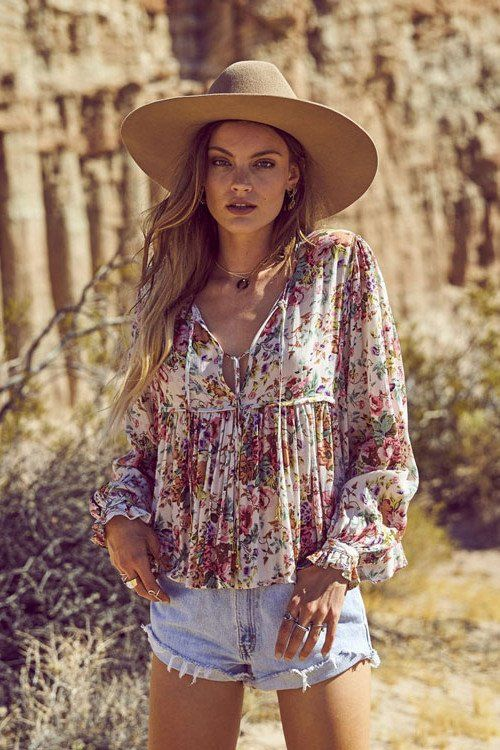 Longbeach Market Boho Top - Natural - The Freedom State  - 1