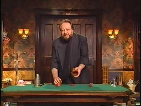 """Ricky Jay is a consummate entertainer. I wish this were available in HD, but since it's not, just embiggen it to fill your whole screen, and prepare to be amazed and enthralled by a dazzling performance of the cups and balls, which he calls, """"The History Lesson""""."""