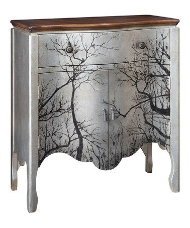 Take a look at this Antique Silver Tree Two-Door Accent Chest by JLA Home on #zulily today! $340 !!