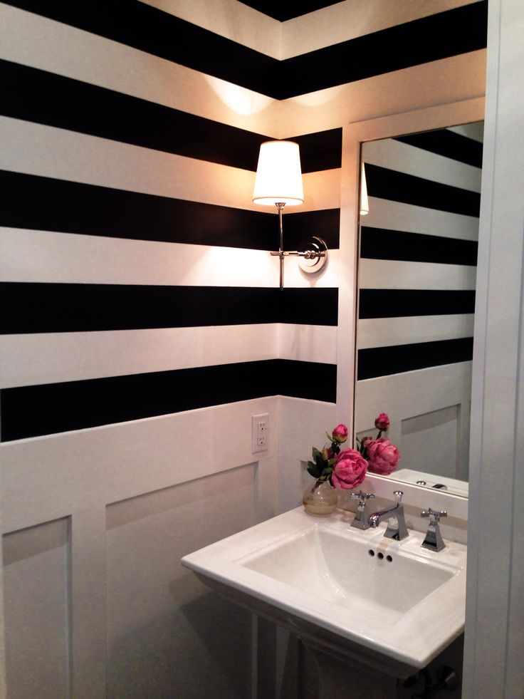 Ken sett Lynn Morgan design black white striped bathroom powder room. 1000  images about Bathroom on Pinterest   Scandinavian style