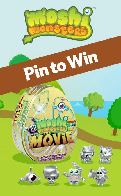 Pin to be in with a chance of winning a moshi monsters the movie tin