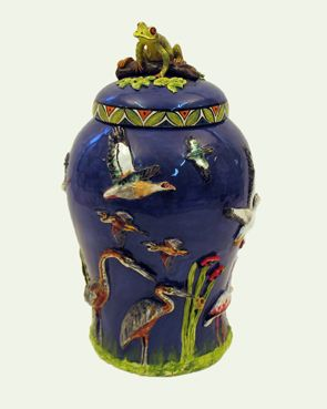Life around the Pond vase - Ken Rowse