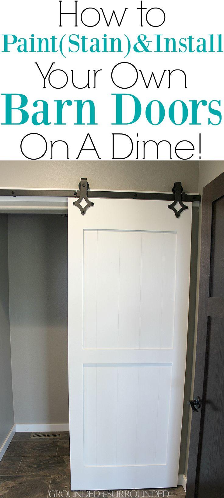 DIY Barn Doors Two Ways Cheap barn doors, Diy barn door